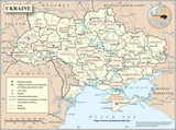 Mapa Ukraina