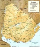 Mapa Urugwaj