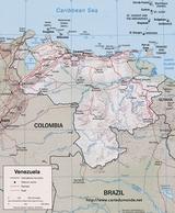 Mapa Wenezuela