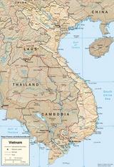 Mapa Vietnam