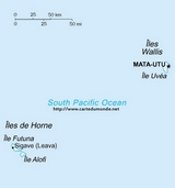 Kaart Wallis en Futuna